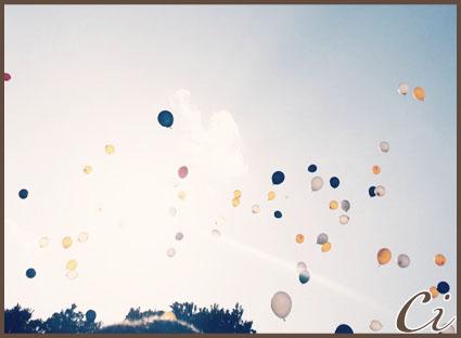 風船の写真のコピー
